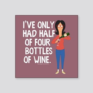 "Bob's Burgers Wine Square Sticker 3"" x 3"""