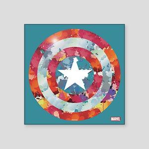 """Captain America Tie-Dye Shi Square Sticker 3"""" x 3"""""""
