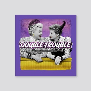"""I Love Lucy: Double Trouble Square Sticker 3"""" x 3"""""""