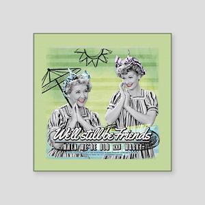 "I Love Lucy: Old & Wacky Square Sticker 3"" x 3"""