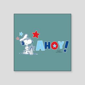 Snoopy AHOY Full Bleed Sticker