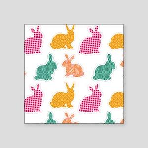 """bunny Square Sticker 3"""" x 3"""""""