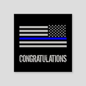 """Police: Congratulations (Bl Square Sticker 3"""" x 3"""""""