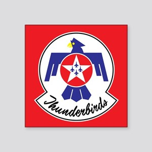 "Air Force Thunderbirds Square Sticker 3"" x 3"""