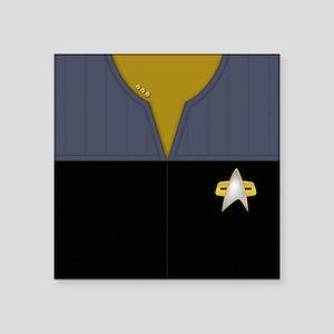 """Star Trek DS9 Ops Cmdr Square Sticker 3"""" x 3"""""""
