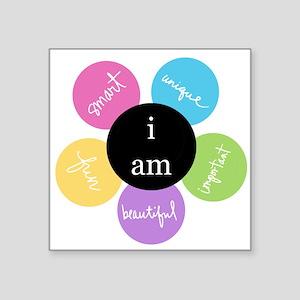 I am Square Sticker