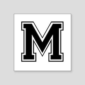 Varsity Letter M Square Sticker