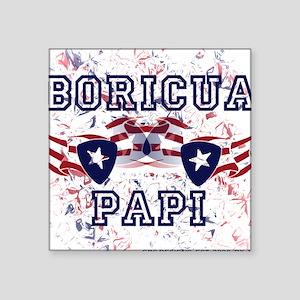 Boricua Papi Square Sticker