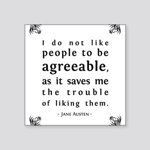 Agreeable People Square Sticker
