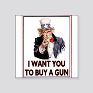 Buy a GUN, Square Sticker