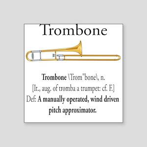 Trombone Pitch Approxomator Square Sticker