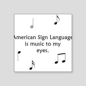 Deaf Music Square Sticker