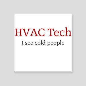 HVAC Square Sticker