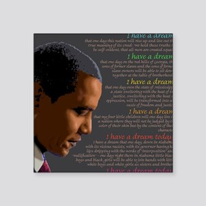 Obama / I Have a Dream Square Sticker