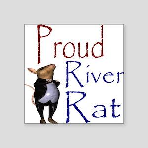 Proud River Rat Poker Square Sticker