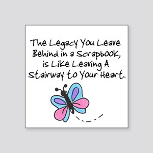 Scrapbooking Legacy Square Sticker