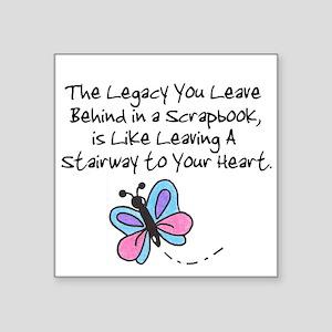 Scrapbooking Legacy Square Sticker