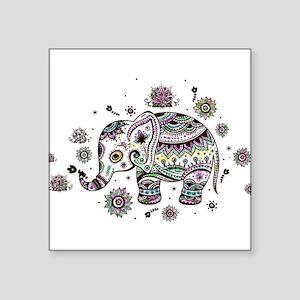 Cute Pastel Colors Floral Elephant Sticker
