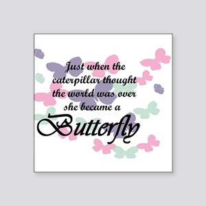 Inspirational Butterfly Sticker