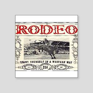 "Vintage Rodeo Square Sticker 3"" x 3"""