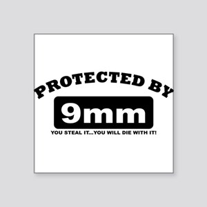 property of protected by 9mm b Sticker
