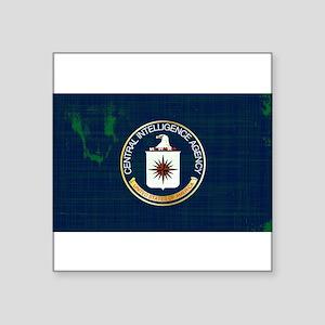 CIA Flag Grunge Sticker