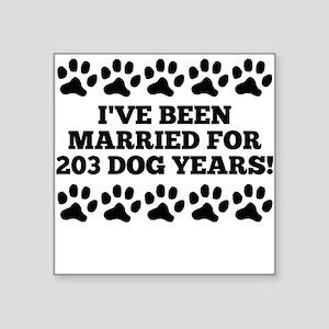 29th Anniversary Dog Years Sticker