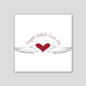 "Angels Watch Square Sticker 3"" x 3"""