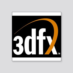 3dfx Interactive Inc Corporate Logo Square Sticker