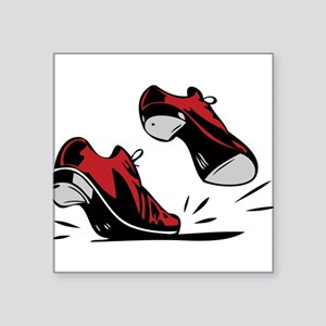 """Tap Dancing Shoes Square Sticker 3"""" x 3"""""""