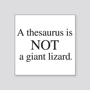 Thesaurus Rectangle Sticker