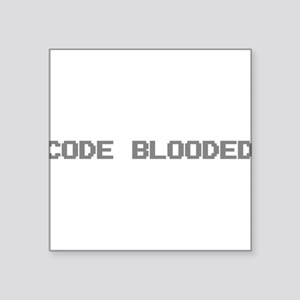 "Code Blooded Square Sticker 3"" x 3"""