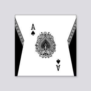 "Ace of Spades Square Sticker 3"" x 3"""