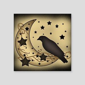 "Starlight crow Square Sticker 3"" x 3"""