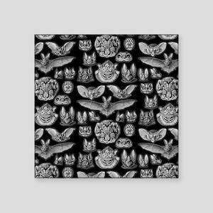 "Vintage Bat Illustrations Square Sticker 3"" x 3"""