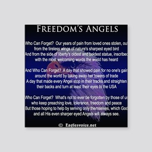 """Freedoms Angels Square Sticker 3"""" x 3"""""""
