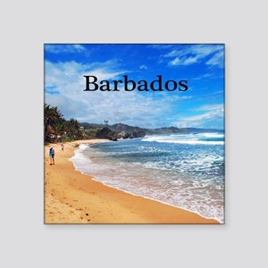 "Barbados62x52 Square Sticker 3"" x 3"""