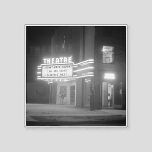 Movie Theater at Night, 1941 Sticker