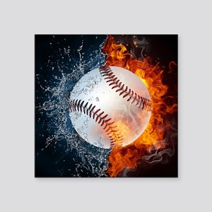 "Baseball Square Sticker 3"" x 3"""