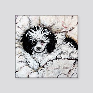 """Toy Poodle Square Sticker 3"""" x 3"""""""