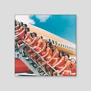 "Flight Attendants Square Sticker 3"" x 3"""