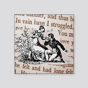 "Mr Darcys Proposal, Jane Au Square Sticker 3"" x 3"""