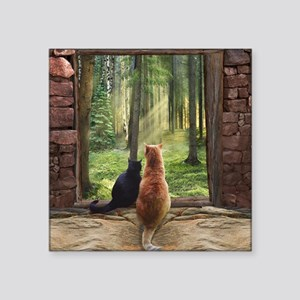 """Doorway into Forever nc Square Sticker 3"""" x 3"""""""