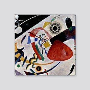 "Kandinsky - Red Spot II Square Sticker 3"" x 3"""