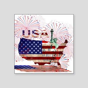 USA FIREWORKS STARS STRIPES LADY LIBERTY Sticker