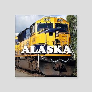 """Alaska Railroad Square Sticker 3"""" x 3"""""""