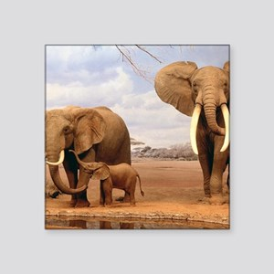 Family Of Elephants Sticker
