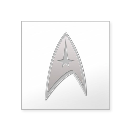 STAR TREK Silver Metallic Insignia