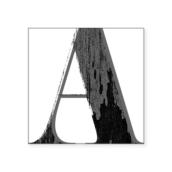 Grungy artistic letter A in black and grey tone