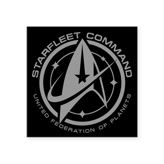 Grey Starfleet Command Emblem